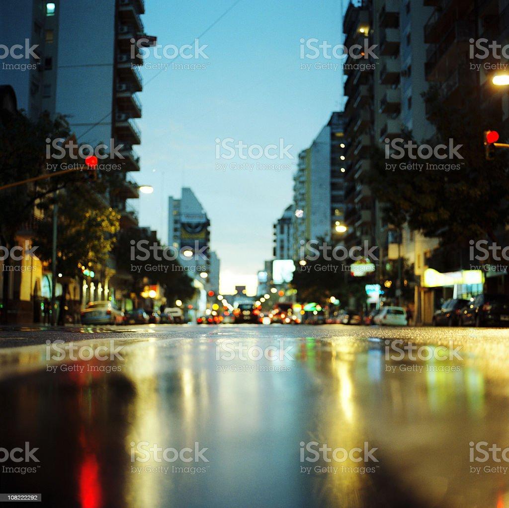Cordoba Avenue at Sunset stock photo