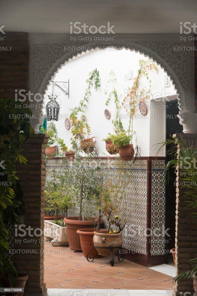 Cordoba (Andalucia, Spain): court (patio) stock photo