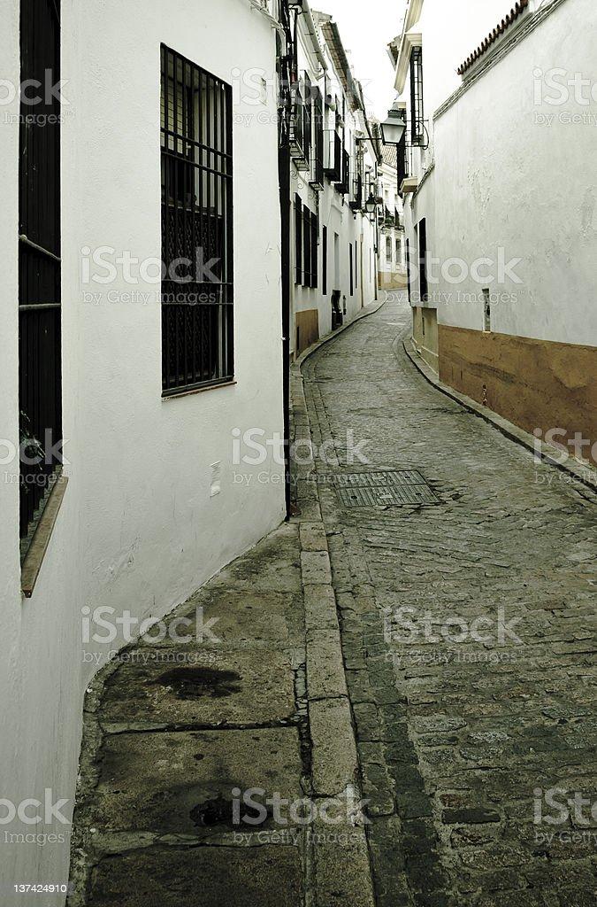 Cordoba old street stock photo