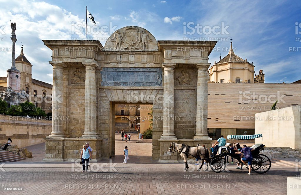 Cordoba Puerta del Puente stock photo