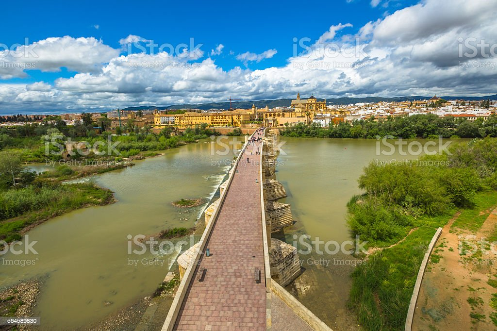 Cordoba Roman Bridge stock photo