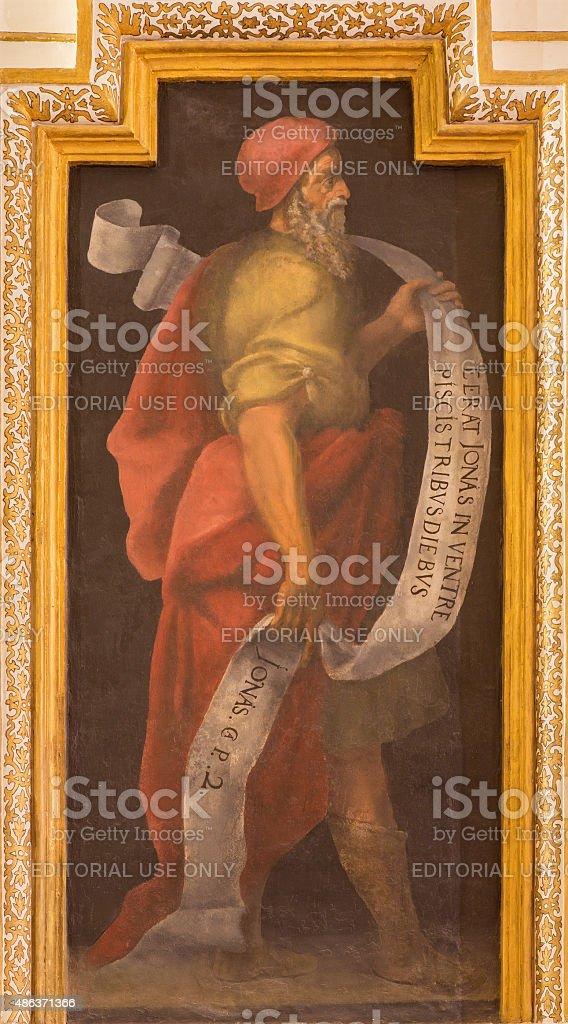 Cordoba - The fresco of prophet Jonah stock photo
