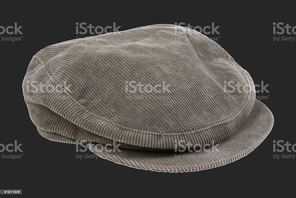 Corduroy cap stock photo