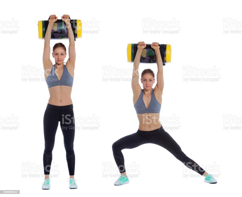 Core bag exercise stock photo