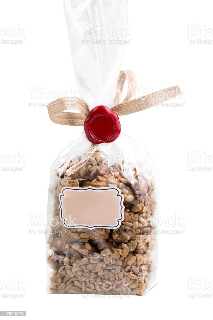 Core crackers in a transparent package stock photo