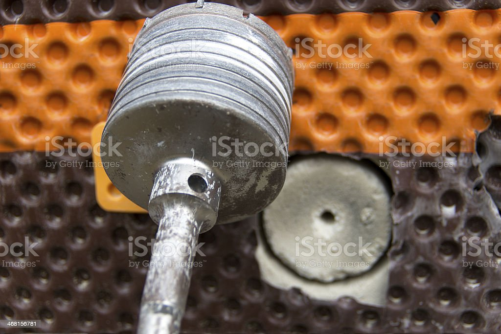 Core Drilling Concrete Foundation royalty-free stock photo