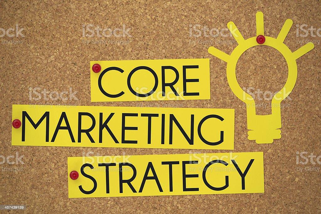 Core Marketing Strategy stock photo