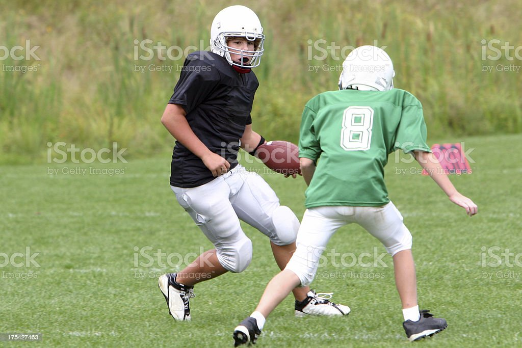 corey runs with the ball royalty-free stock photo