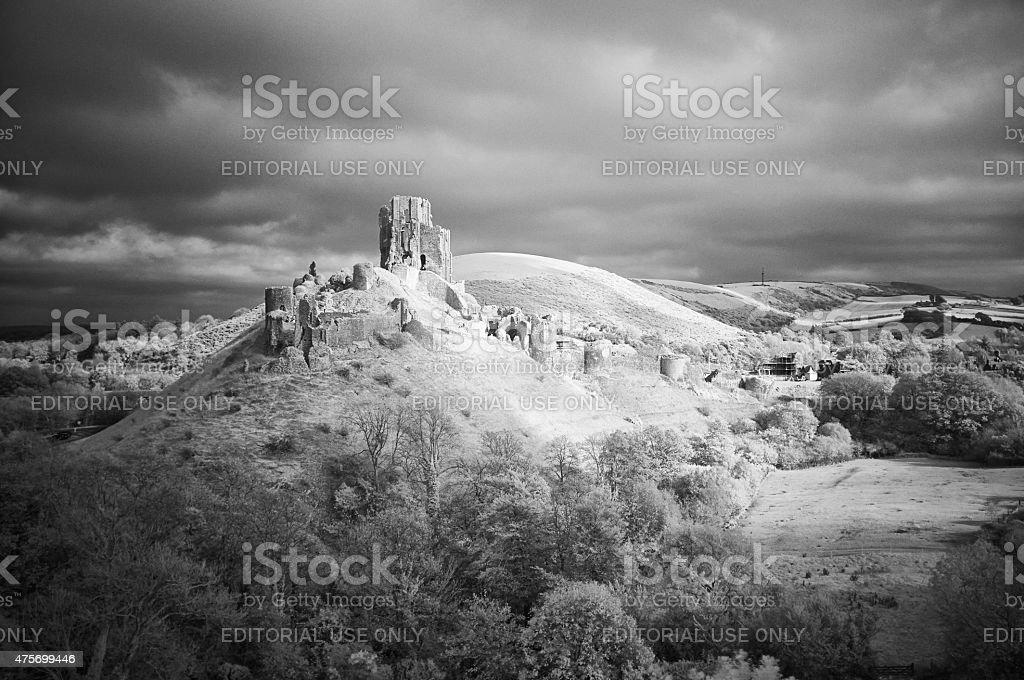 Corfe Castle In Infrared stock photo