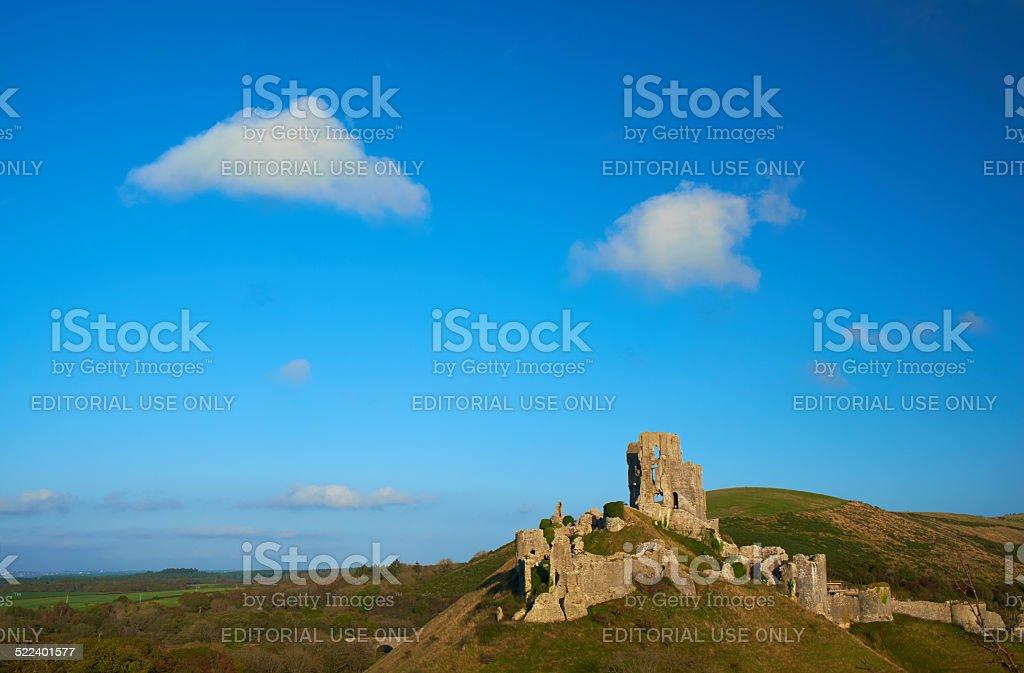 Corfe Castle Scenic stock photo
