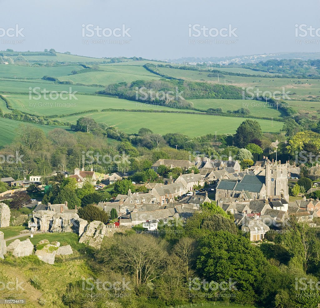 Corfe village royalty-free stock photo