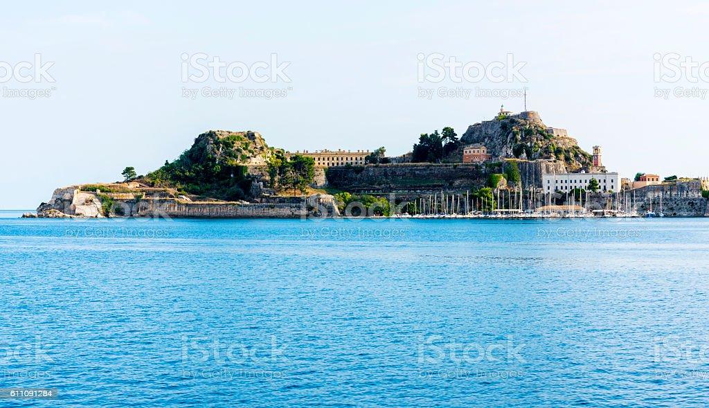 Corfu city, Greece stock photo