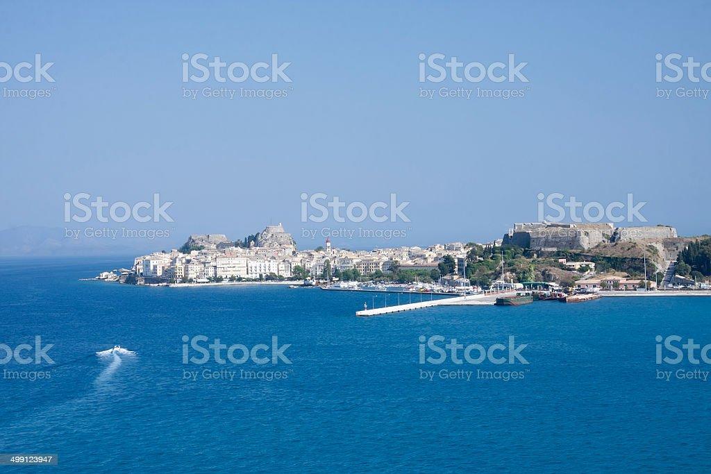 Küste von Korfu, Griechenland Lizenzfreies stock-foto