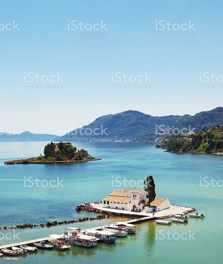 Corfu Island scenics stock photo