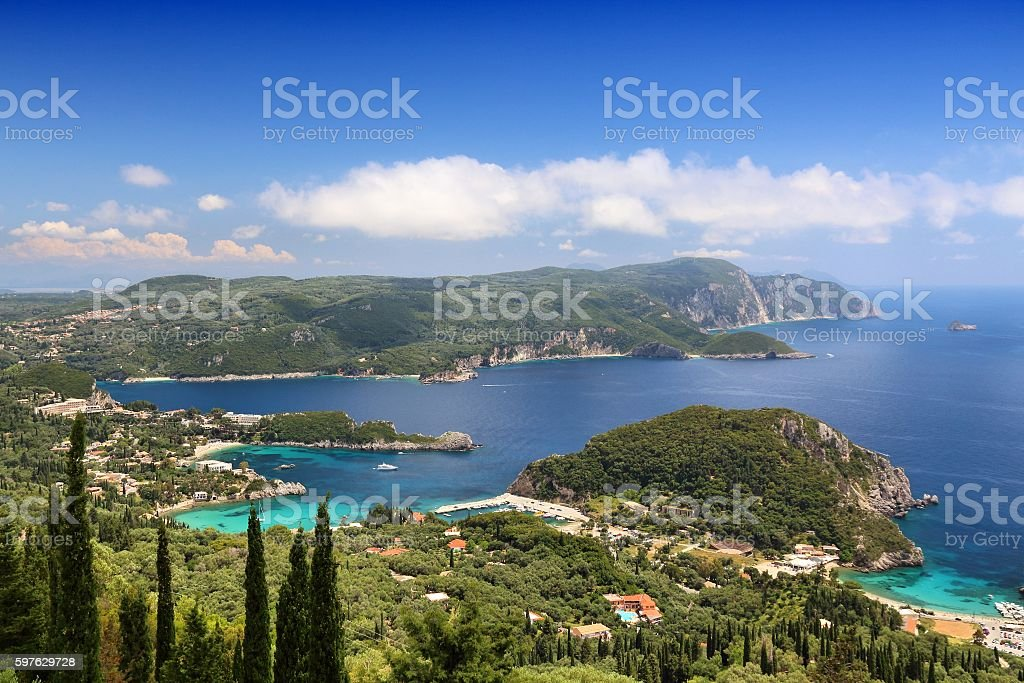 Corfu landscape stock photo