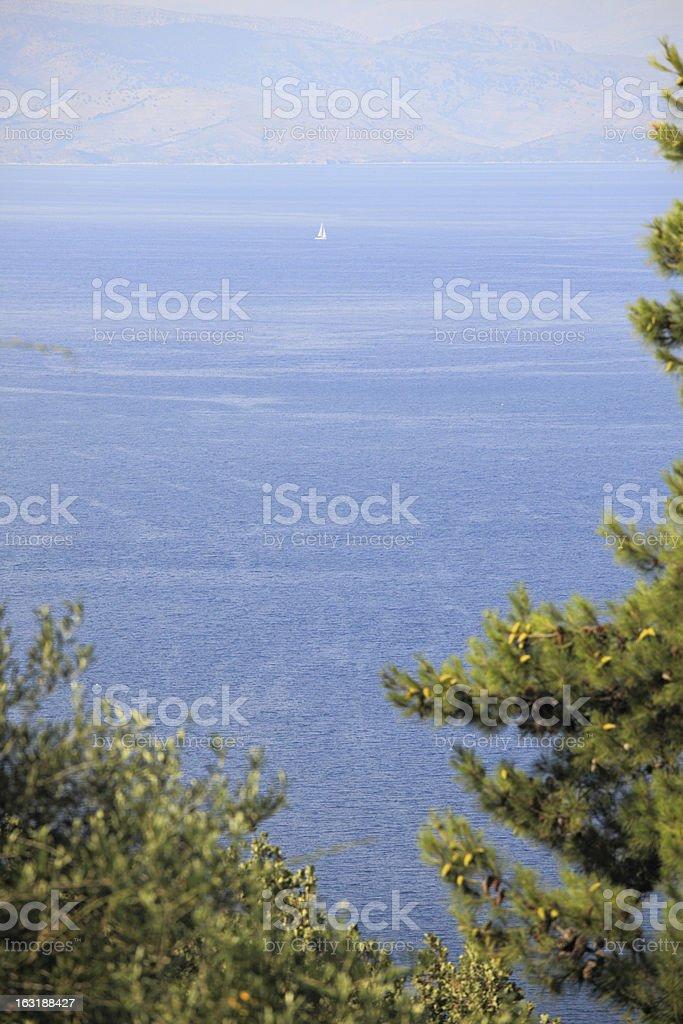 Corfu seascape royalty-free stock photo
