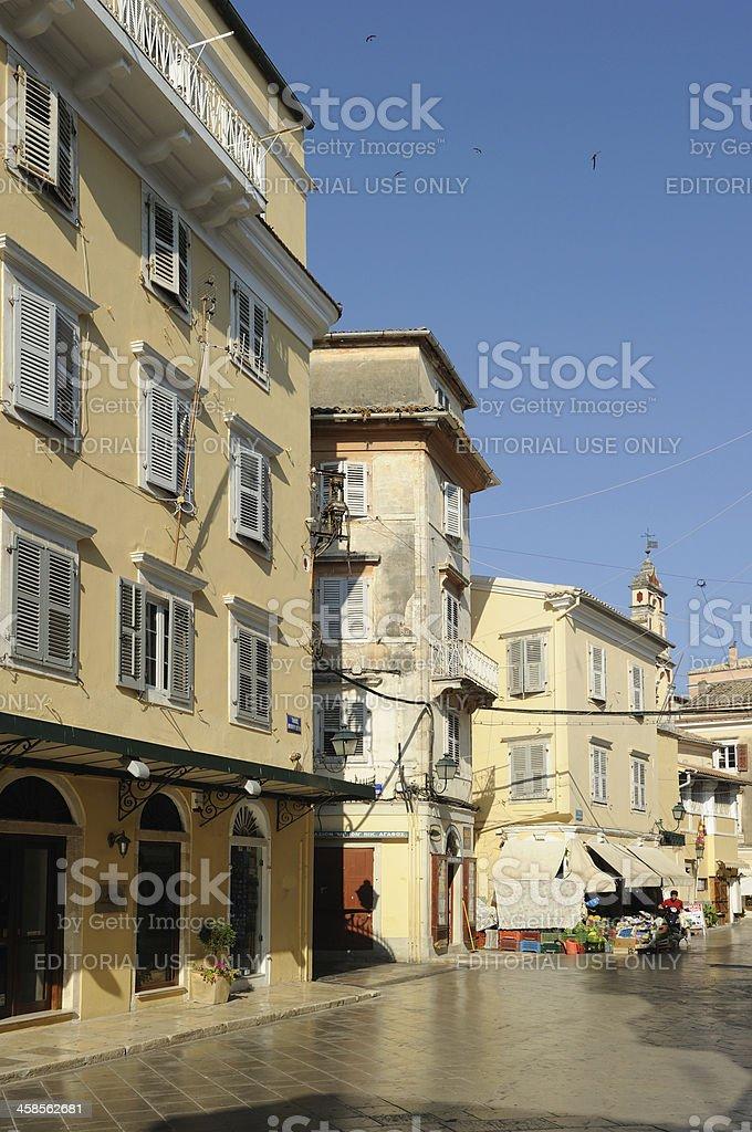 Corfu Street royalty-free stock photo
