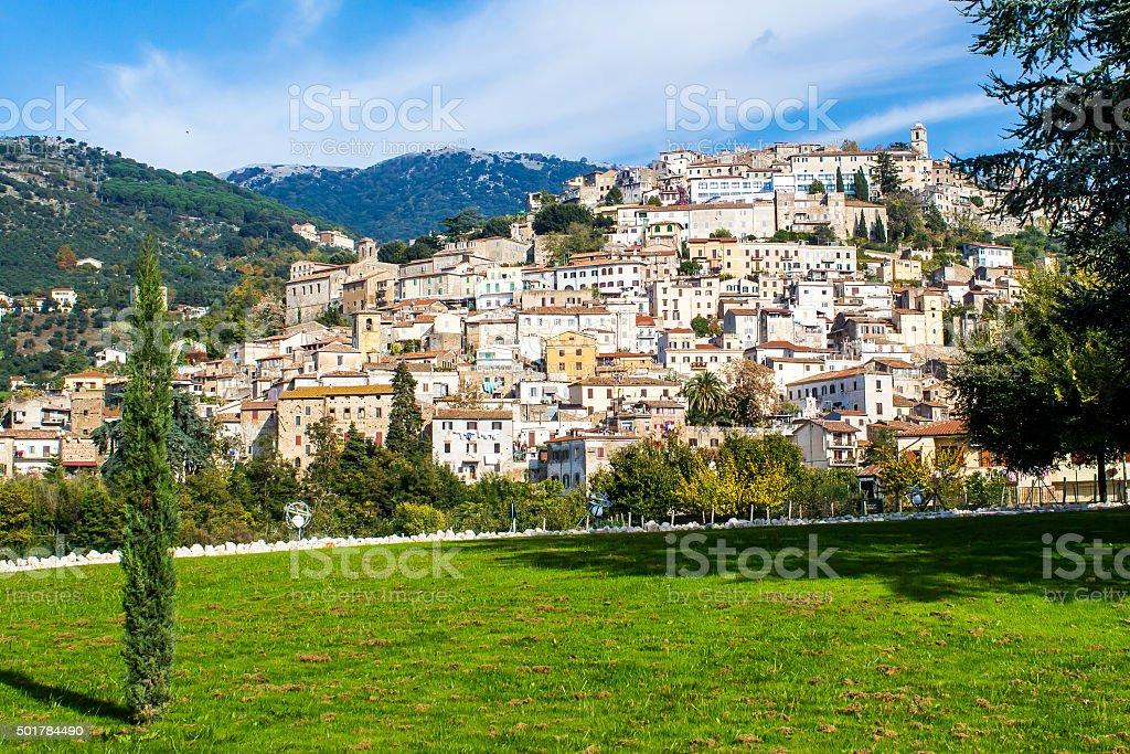 Cori, a town near Latina, Italy stock photo