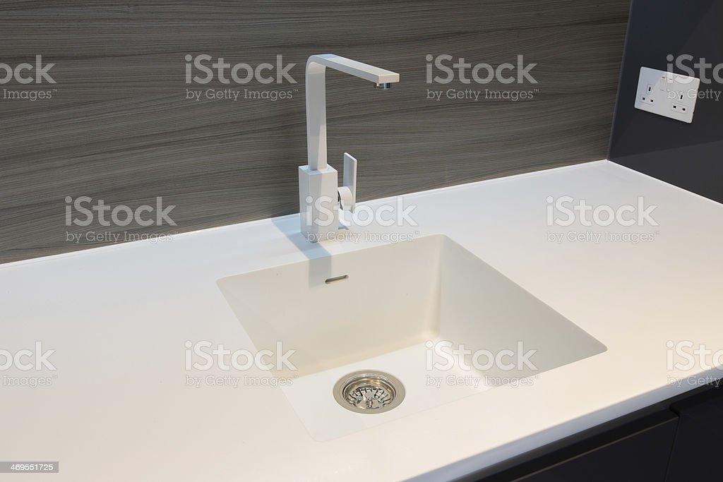 Corian Sink and Worktop stock photo