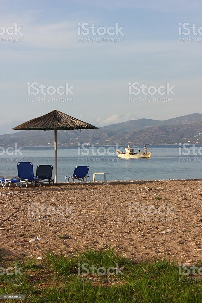 Corinth Beach stock photo