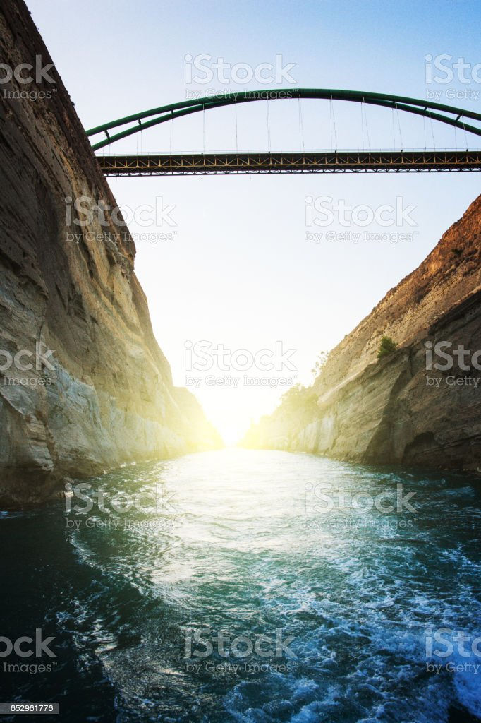 Corinth Canal stock photo