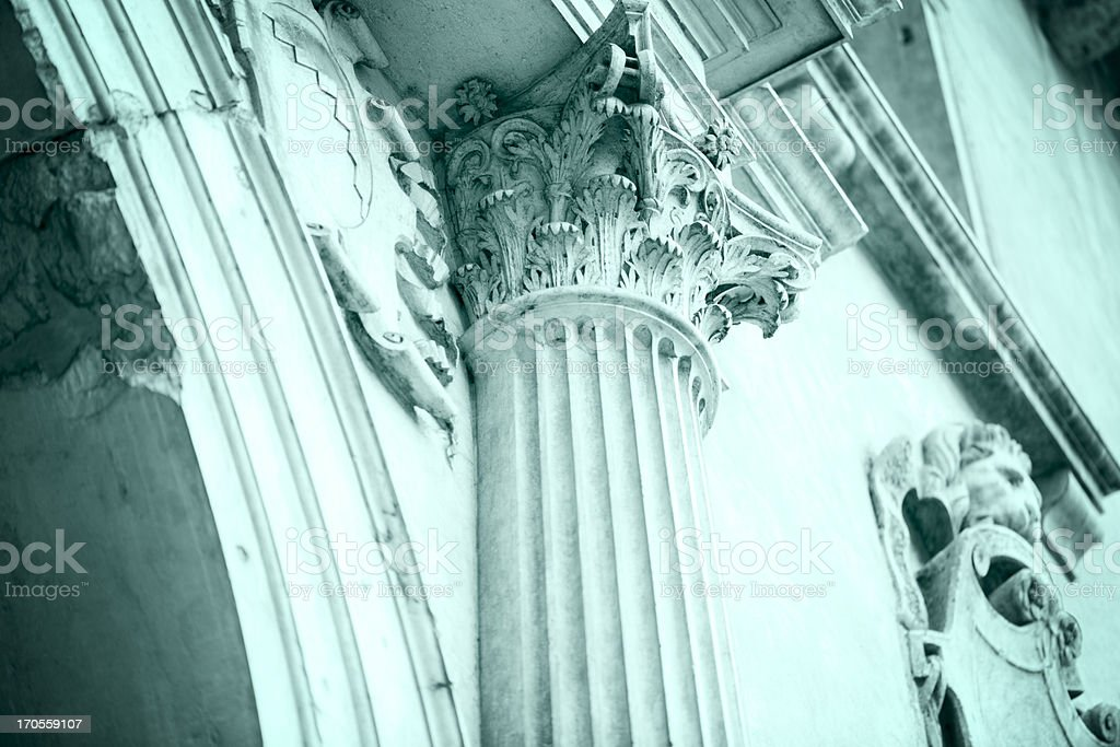 Corinthian Capital a Symbol of Former Glory royalty-free stock photo