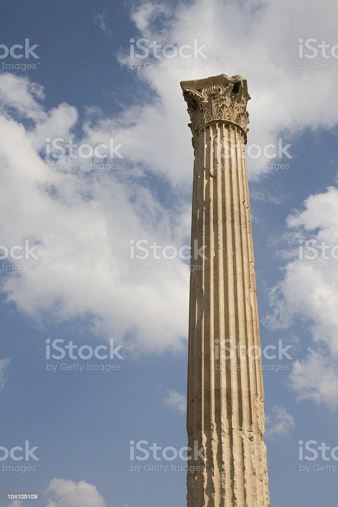 corinthian column against blue sky royalty-free stock photo