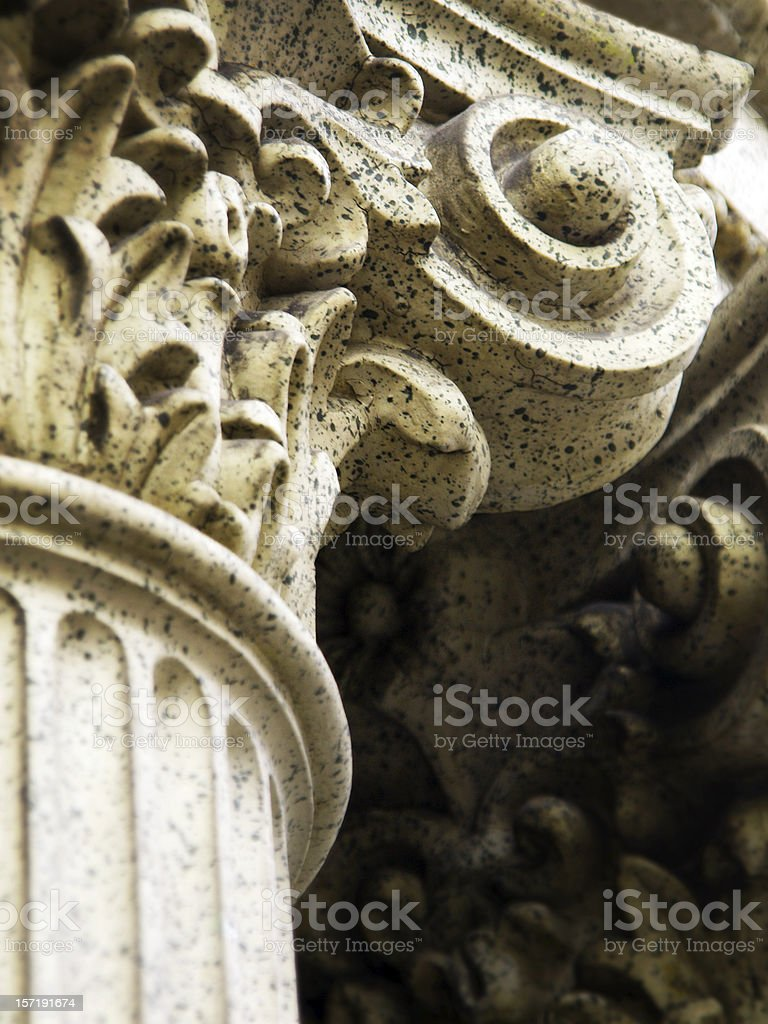Corinthian Column Detail royalty-free stock photo
