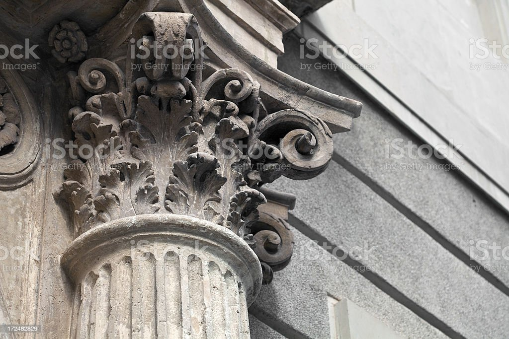 Corinthian column royalty-free stock photo