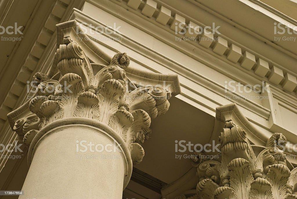 Corinthian column royalty-free stock photo