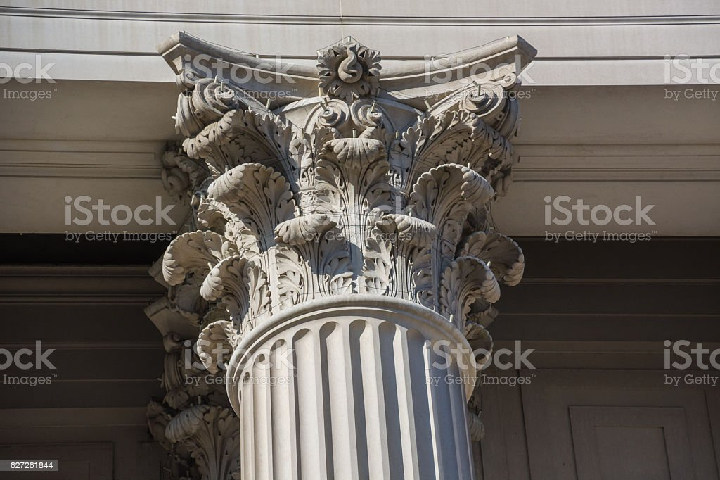 Corinthian Column used on the National Archives Building Washington stock photo