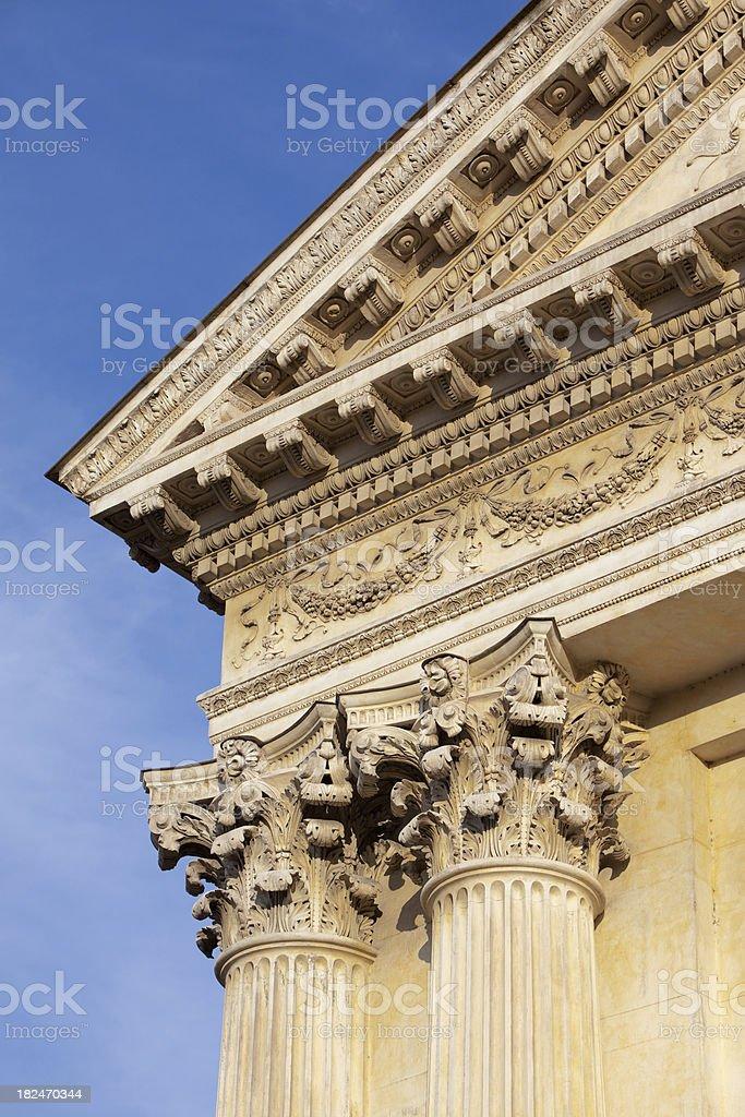Corinthian Columns against blue sky royalty-free stock photo