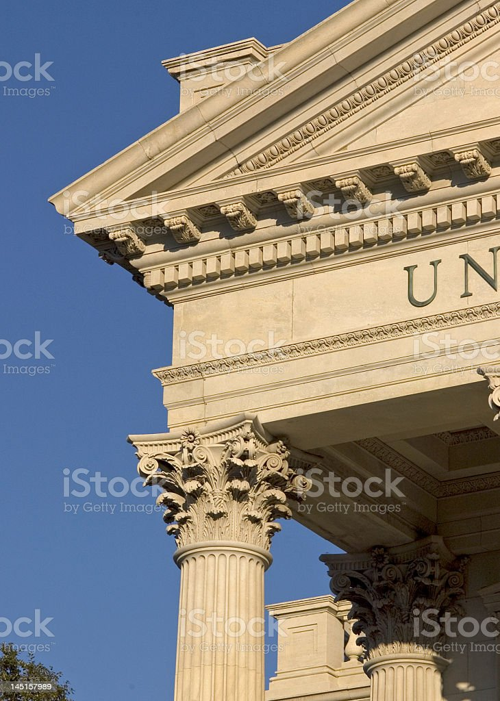 Corinthian Columns and Architectural Detail royalty-free stock photo