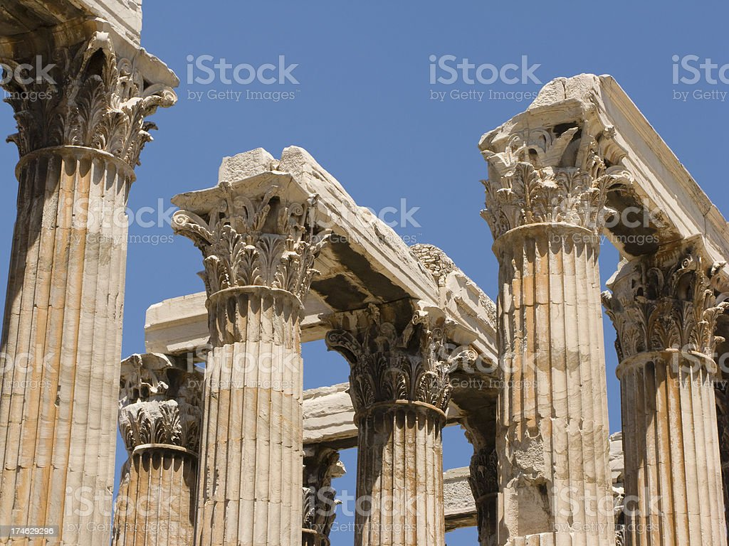 Corinthian Columns at Hadrian's Arch royalty-free stock photo