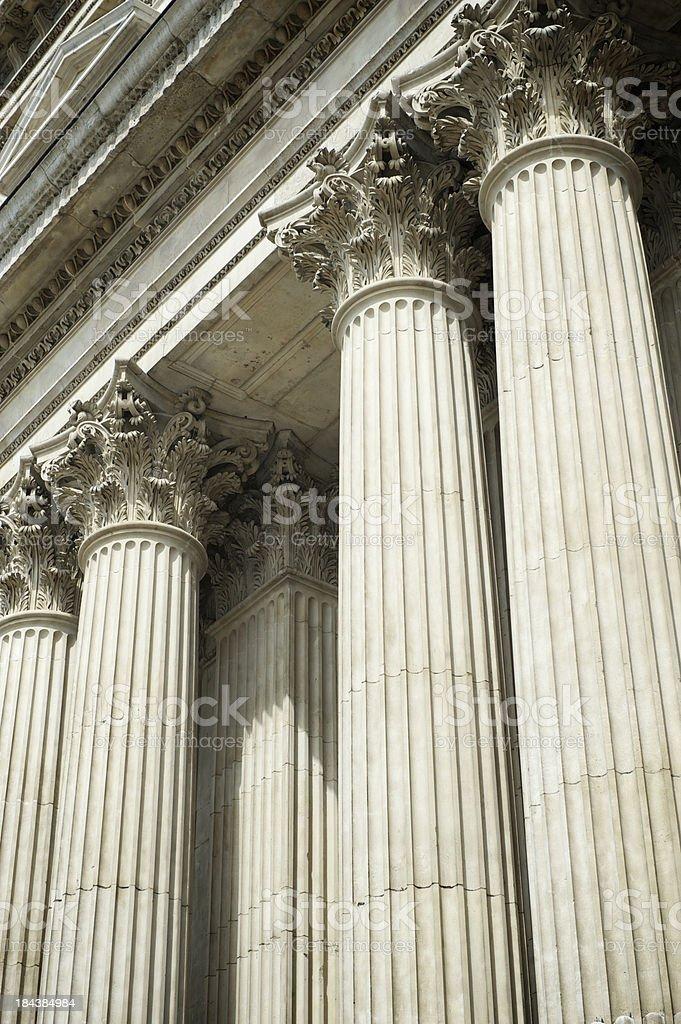 Corinthian Columns Full Frame royalty-free stock photo