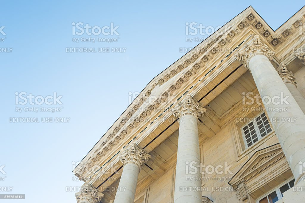 Corinthian columns, Paris, France stock photo