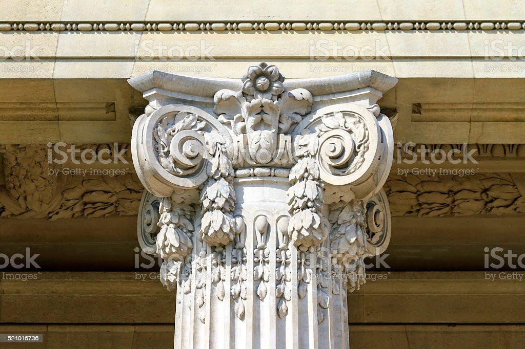 Corinthian pillar stock photo