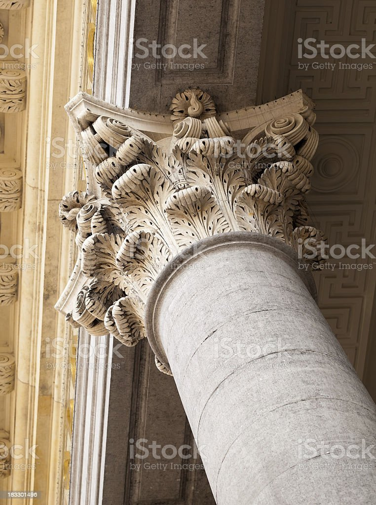 Corinthian roof support column royalty-free stock photo