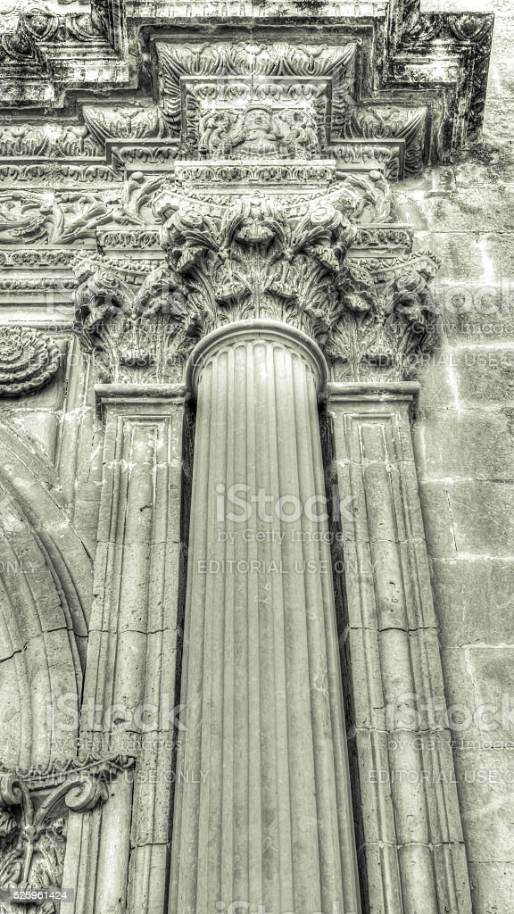 Corinthians columns low angle HDR, Elements of Architecture stock photo