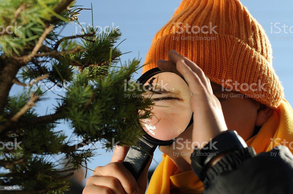 corious boy stock photo