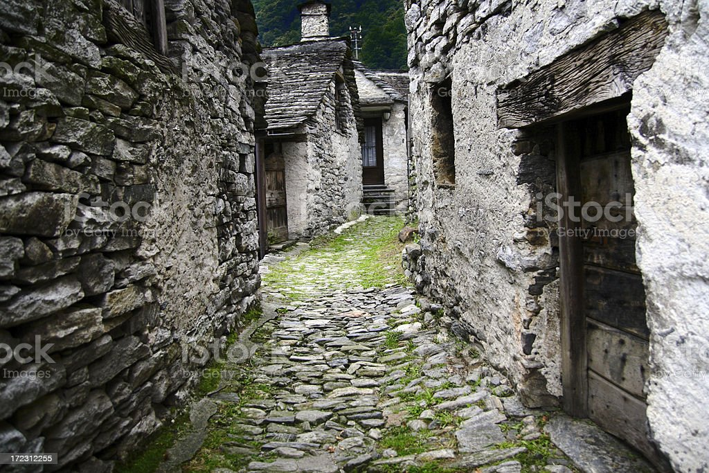 Corippo in Verzasca royalty-free stock photo