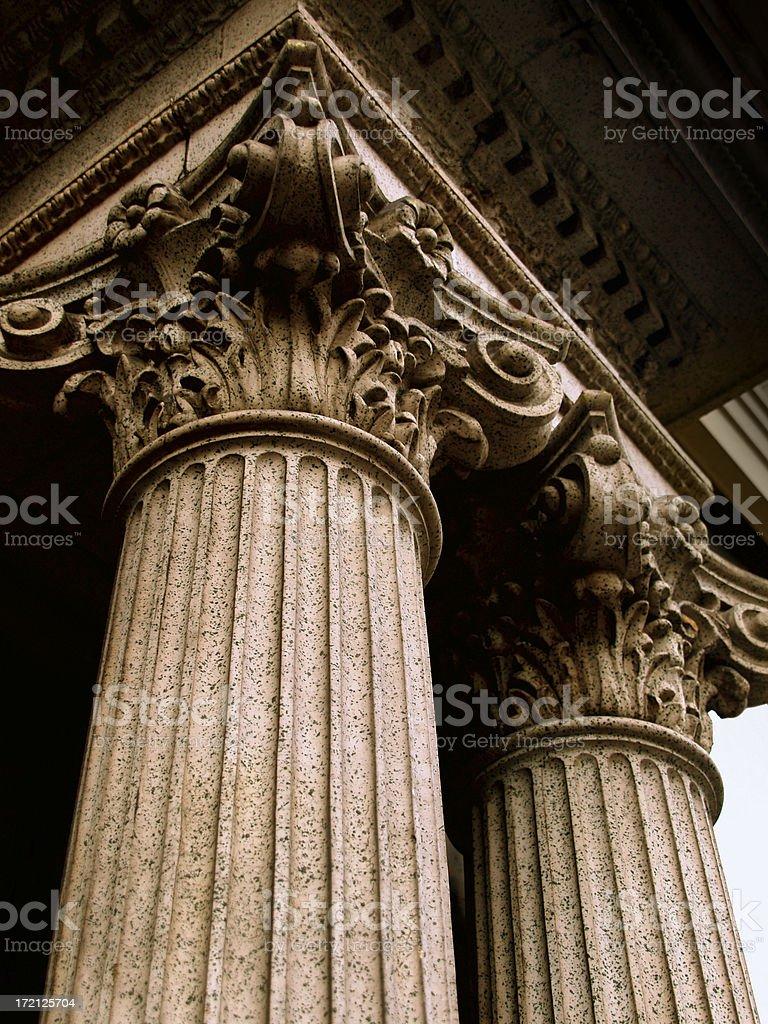 Corithian Columns stock photo