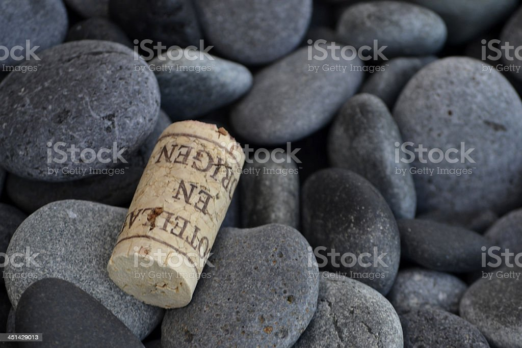 Cork and stones stock photo