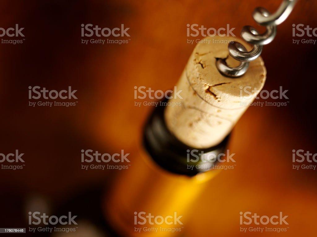 Cork and Wine Bottle Opener stock photo
