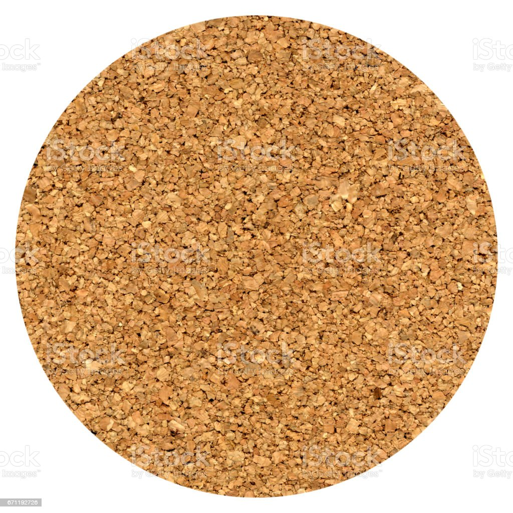cork beer mat isolated over white stock photo