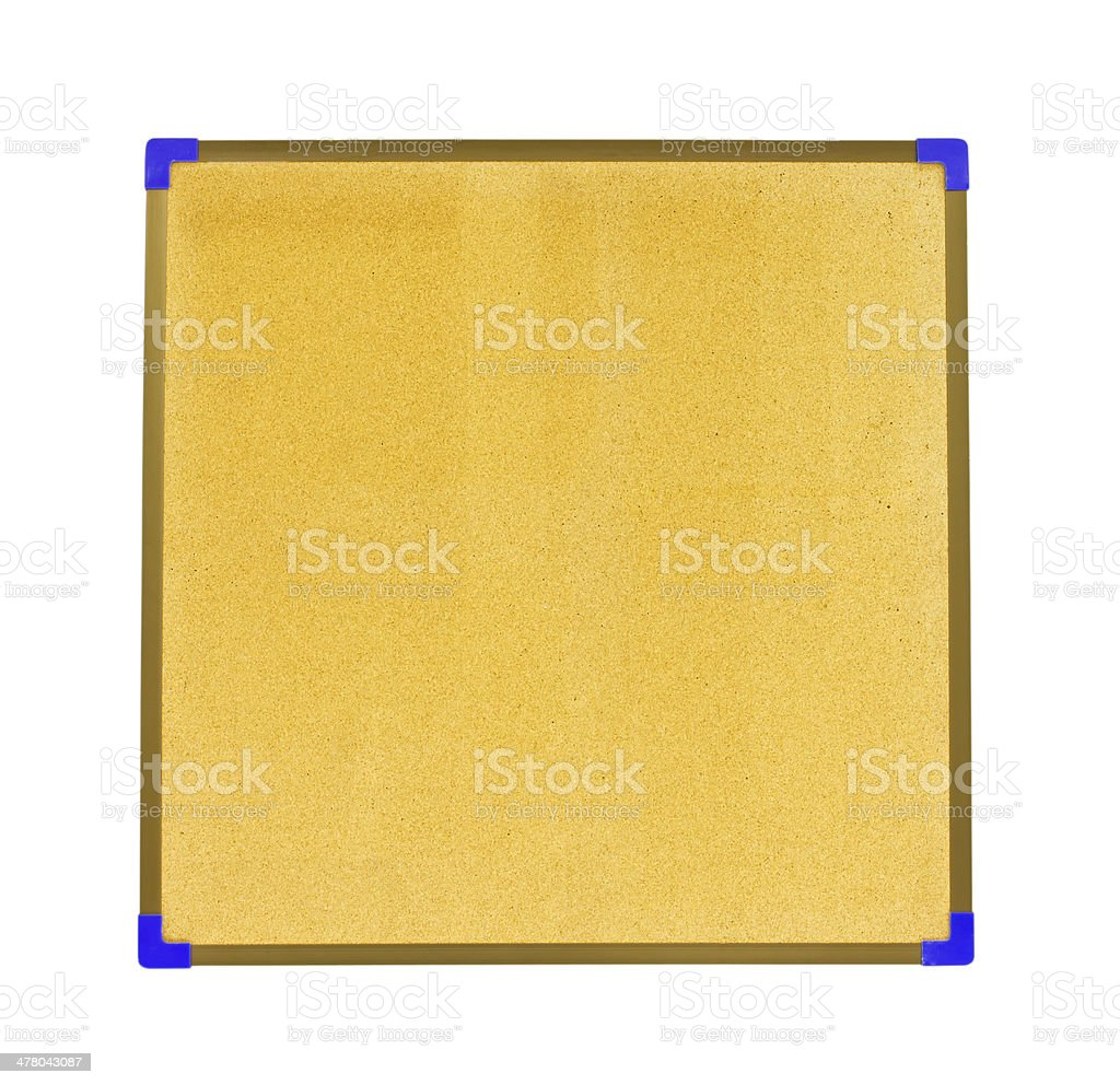 Cork board isolate on white background royalty-free stock photo