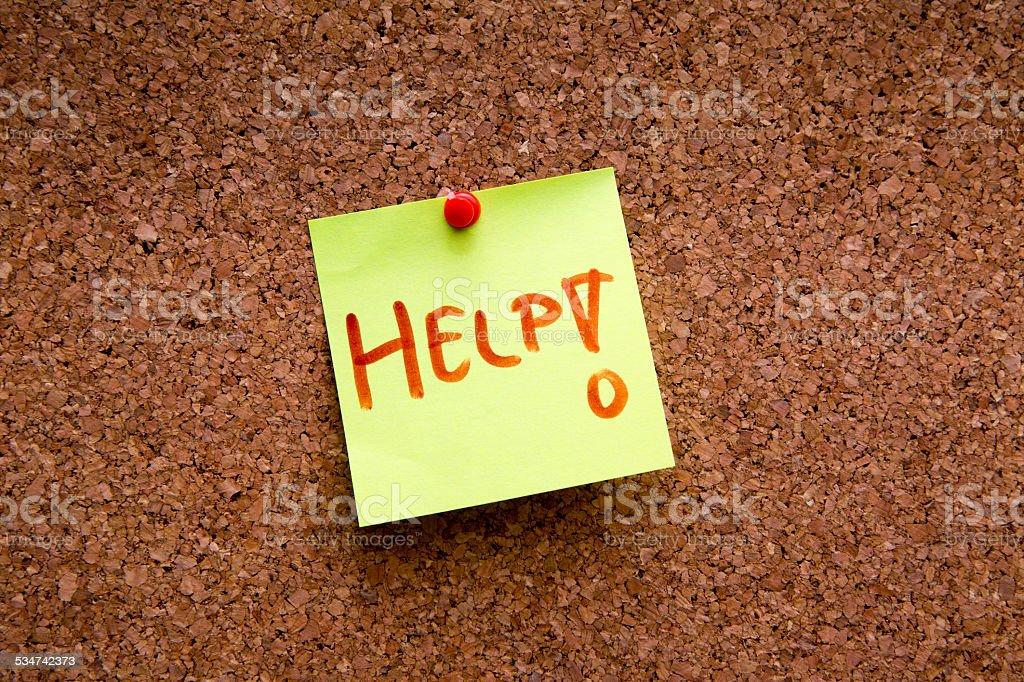 Cork Board /Sticky Note stock photo