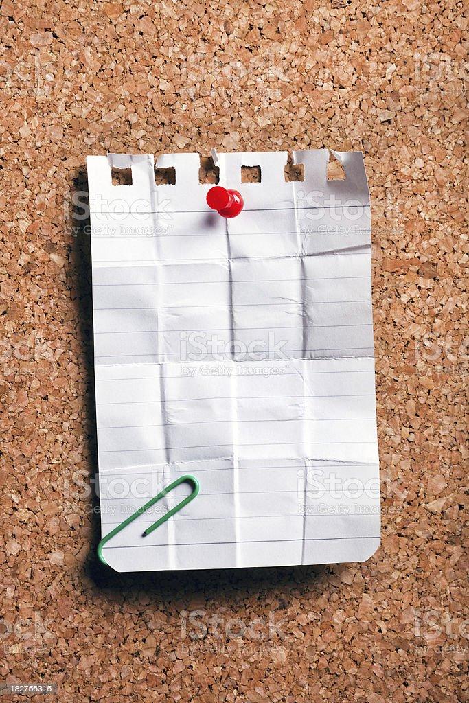 cork board with a blank sheet (xxxl) stock photo