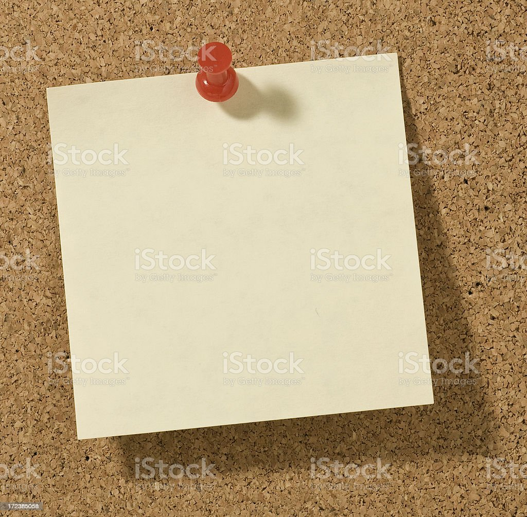 Cork Board With Blank Note royalty-free stock photo