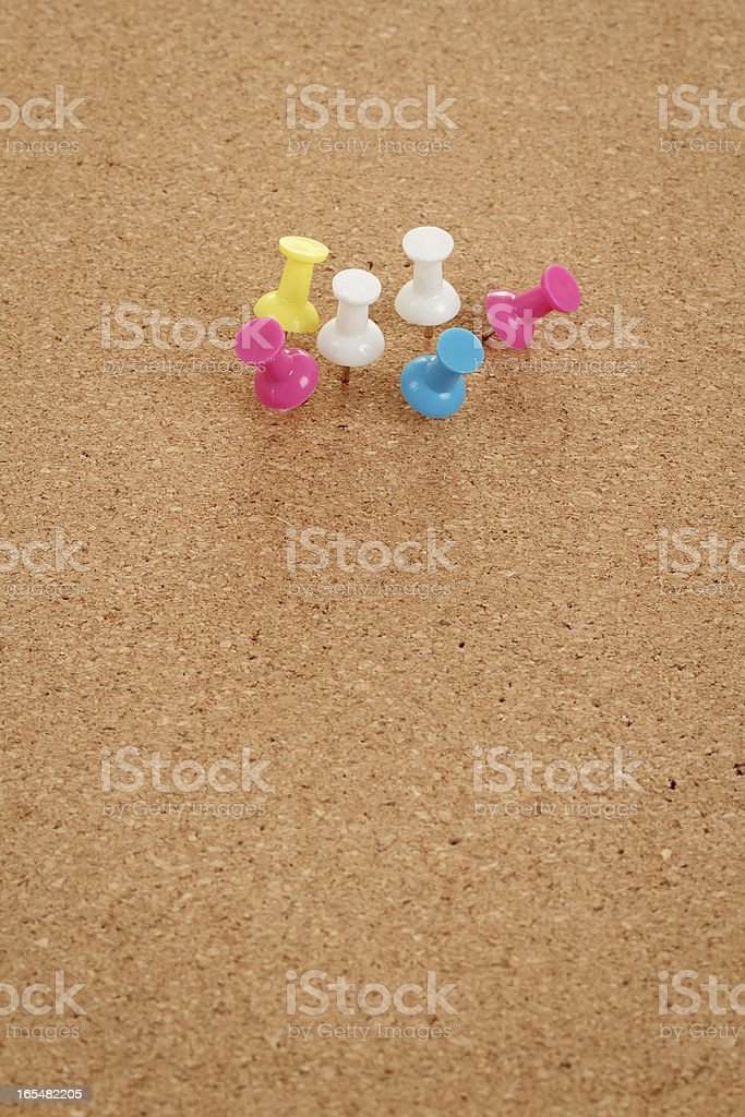 cork board with color pins royalty-free stock photo